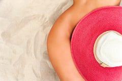 Corpo abbronzato estate calda Curve nude del corpo della donna Immagini Stock Libere da Diritti