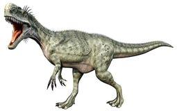 Corpo cheio de Monolophosaurus ilustração stock
