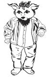 Corpo cheio do Gnome com barba, revestimento, calças, camisa Foto de Stock Royalty Free