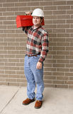 Corpo cheio do homem de funcionamento Foto de Stock