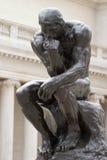 Corpo cheio do pensador de Rodin Fotografia de Stock Royalty Free