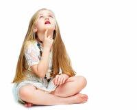 Corpo completo da menina da criança da forma imagens de stock