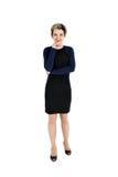 Corpo completo da mulher de negócio bonita alegre Fotos de Stock Royalty Free