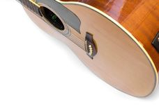 Corpo da guitarra acústica Foto de Stock