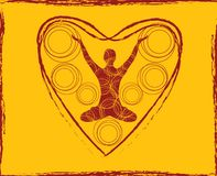 Corpo da ioga do coração Imagens de Stock Royalty Free