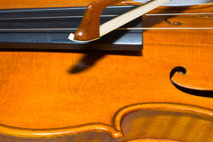Corpo de um violino foto de stock