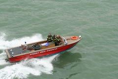 Corpo dei vigili del fuoco della barca Fotografia Stock Libera da Diritti
