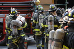 Corpo dei vigili del fuoco NYC nell'azione Immagine Stock Libera da Diritti