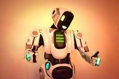 Corpo del primo piano del robot Fotografie Stock Libere da Diritti