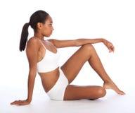 Corpo delgado da mulher bonita do americano africano imagem de stock royalty free