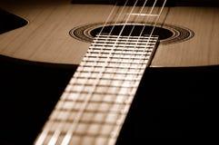 Corpo della chitarra Fotografie Stock