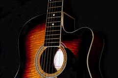 Corpo della chitarra acustica Fotografie Stock Libere da Diritti