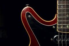 Corpo della chitarra elettrica e dettaglio del collo fotografia stock libera da diritti