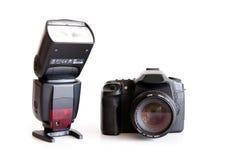 Corpo della fotocamera e lente di Dslr immagini stock libere da diritti