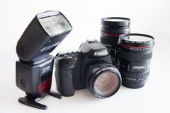 Corpo della fotocamera e lenti di Dslr immagini stock