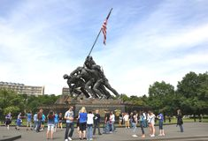 Corpo della Marina degli Stati Uniti commemorativo fotografia stock