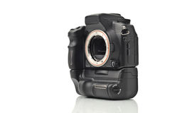 Corpo di macchina fotografica di DSLR senza obiettivi isolati Immagini Stock Libere da Diritti