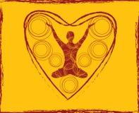 Corpo di yoga del cuore Immagini Stock Libere da Diritti