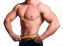 Corpo do atleta do homem Imagens de Stock Royalty Free