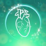 Corpo do pacemaker de coração Foto de Stock Royalty Free