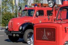 Corpo dos bombeiros alemão idoso Magirus automobilístico Deutz Fotos de Stock