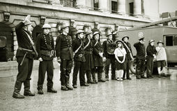 Corpo dos bombeiros do vintage Fotografia de Stock
