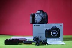 Corpo e scatola del segno IV di Canon 5D Immagini Stock Libere da Diritti