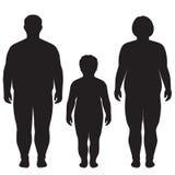 Corpo gordo do vetor, perda de peso, Fotos de Stock Royalty Free