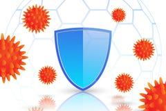 Corpo immune e virus Fotografie Stock Libere da Diritti