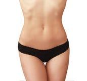 Corpo magro da mulher. Dieta e saúde Fotografia de Stock