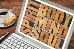 Corpo, mente, anima e spirito Immagine Stock Libera da Diritti