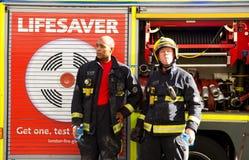 Corpo nazionale dei vigili del fuoco Immagini Stock Libere da Diritti