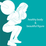 Corpo saudável e figura bonita Fotografia de Stock Royalty Free