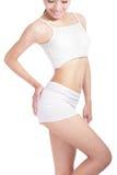 Corpo 'sexy' da mulher nova com face do sorriso Fotografia de Stock