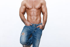 Corpo 'sexy' do homem Foto de Stock Royalty Free