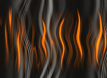 Corpo vermelho da chama em fundos ondulados do fumo Imagem de Stock