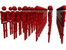 Corpo vermelho do raytrace da tecnologia Fotos de Stock