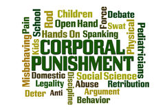 Corporal Punishment. Word cloud on white background Stock Images
