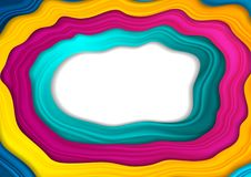 Corporate abstract background with colorful waves Stock Images