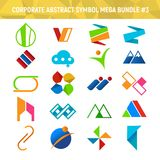 Corporate Abstract Symbol Mega Bundle Pack Design 3. Corporate Abstract Symbol Mega Bundle Pack Vector Illustration Graphic Design 3 Royalty Free Stock Photography