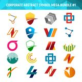 Corporate Abstract Symbol Mega Bundle Pack Design 1. Corporate Abstract Symbol Mega Bundle Pack Vector Illustration Graphic Design 1 Stock Photos