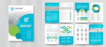 Free Corporate Annual Report With A Cover. Stock Photography - 216159222