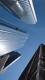 Corporate Architecture. Modern corporate glass and steel skyscrapers royalty free stock photos