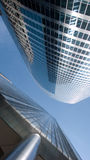 Corporate Architecture. Modern corporate glass and steel skyscrapers stock image