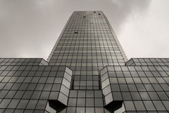 Corporate architecture, glass skyscraper detail. Royalty Free Stock Photography