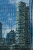 Corporate architecture, skyscraper detail. Royalty Free Stock Image
