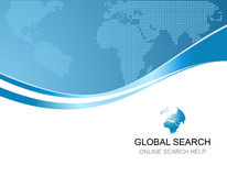 Corporate background with logo of global search vector illustration