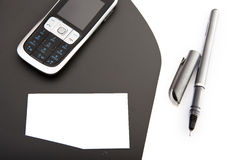 Corporate binder with mobile phone Stock Photo