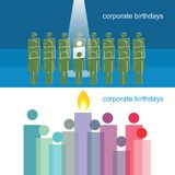 Corporate Birthdays Royalty Free Stock Photography