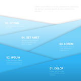 Corporate blue background template - vector paper layers Stock Photos